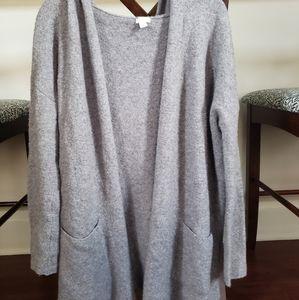 Long Hooded Sweater Cardigan